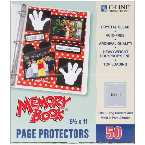 Preisvergleich Produktbild Line Bambus Memory Book Toplader Seite Protectors 21, 6 x 27, 9 cm 50 Pro Paket (1) 21, 6 x 27, 9 cm Pocket