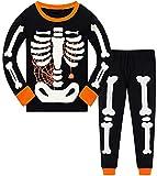 Little Boys Girls' Pajamas Sets Toddler Glow-in-The-Dark Skeleton Pajama Cotton Pjs Kids Halloween Clothes 2-3 Years