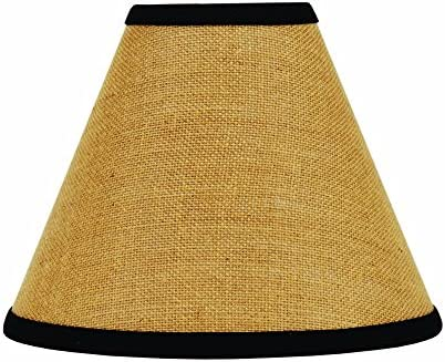 Home Collection by Raghu 2R190011 Black Burlap Stripe Lampshade 12 product image