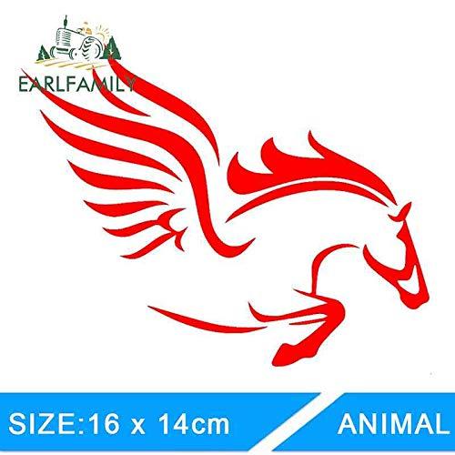 BJDKF Mooie fantasie Pegasus mythologie thema paarden auto sticker voor bumper deur motorfiets laptop auto cover vinyl sticker zwart