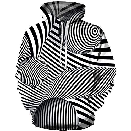 JUZSZB Mens Hoodie 3D Hoody 3D Printed Hoodie Plus Size Pullover Unisex Sweatshirt Loose With Pockets Sweater-002_2Xl