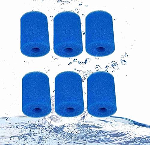 LXTOPN - Filtro de esponja para piscina, cartuchos de filtro tipo para Intex Tipo H, reutilizable, lavable, piscina, filtro de espuma, 100 x 90,5 mm (6 unidades)