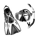 Mares 410794, Set Snorkeling Unisex Adulto, Unisex Adulto, 410794, Blanco/Negro, 39/43