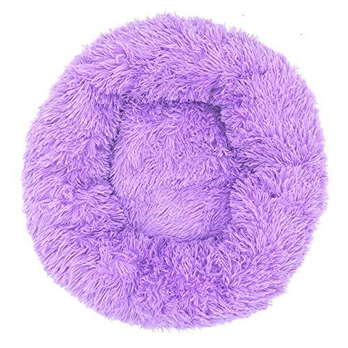 Cesta de cama para perros para mascotas para perros y camas grandes de banco Chihuahua perrera para suministros de mascotas Sofá casa para gato Cojín grande Products-Púrpura, 40cm
