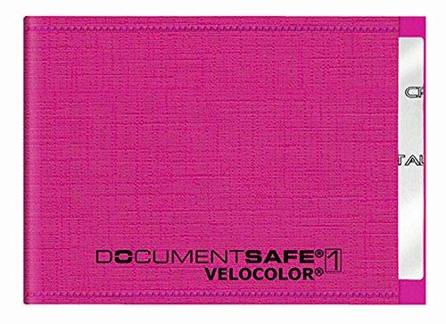 Veloflex 3271371 Document Safe Kartenhülle, Kreditkartenhülle, RFID/NFC-Schutz, RFID-Blocker, 90 x 63 mm, pink