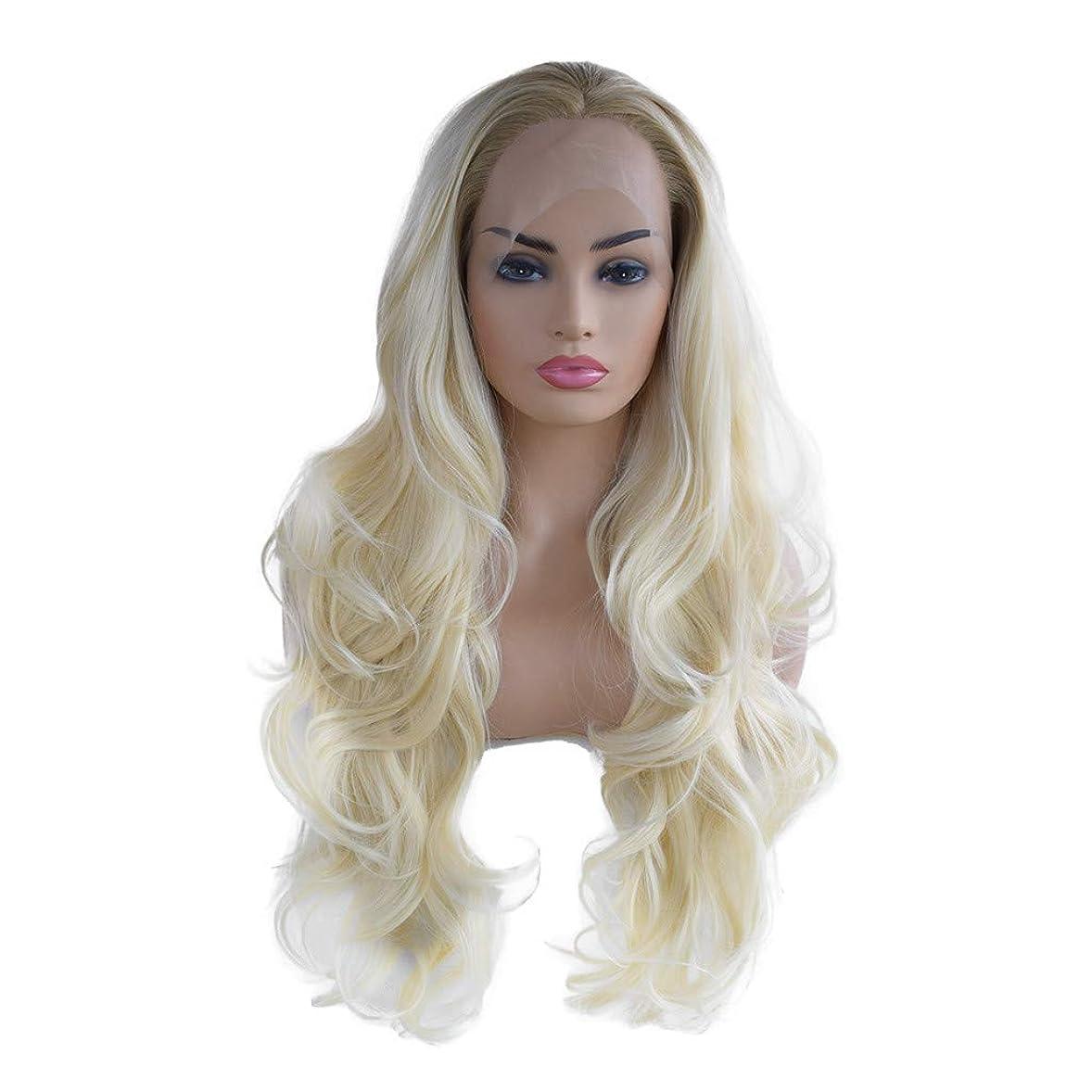 良さミュージカル色女性の長い長い巻き毛のかつらファッションコスプレかつらフロントレースかつら