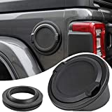 Savadicar Gas Cap Cover No Locking Fuel Tank Door for 2018-2021 Jeep Wrangler JL JLU 2/4 Door, ABS + Aluminum Alloy...