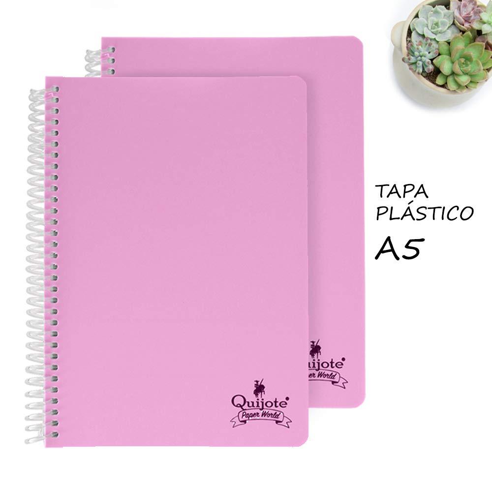 Quijote Paper World Pack 2 Cuadernos Espiral, Con Rayas ...
