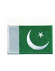 hegibaer 30 x 20 mm Pakistan vlag Islamabad Karatschi vlag patch opstrijkmachine 1095 Mini