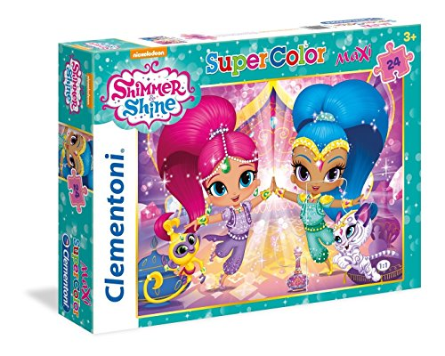Clementoni- Shimmer & Shine Los Pingüinos De Madagascar Puzzle, 24 Piezas, Multicolor (24486)