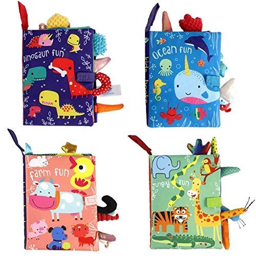 Dorime 1pc Tier Schwanz Baby-Tuch-Buch Comic Baby-frühe Bildung Bildung Hörbuch Weiche Waschbare Toy Buch (Random Color)