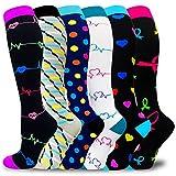 Compression Socks for Women & Men 20-30mmHg- Best for Running,Travel,Cycling,Medical,Nurse,Circulation
