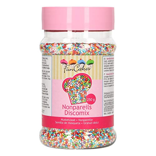 FunCakes Nonpareils Disco: Sprinkles para Tartas, Gran Sabor, Perfecto para Decorar Tartas,...
