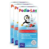 Pedia-Lax Liquid Stool Softener for Kids, Ages 2-11, Berry Flavor, 4 fl oz, 3 Pack