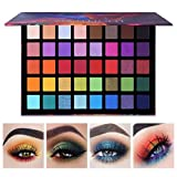UCANBE Spotlight 40 Colors Eye Shadow Palette Colorful Artist Shimmer Glitter Matte Pigment Powder Pressed Eyeshadow Makeup Kit Professional Blendable Gorgeous Smokey Eyeshadow