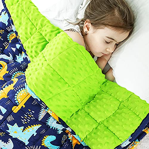 Peradix Kids Minky Weighted Blankets, 5lbs 36×48 Inches,...