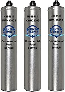 Hoshizaki 965511, 9655-11, 4HF-H, 4HF-C, 4HC-H and 9326-11H Compatible Filters, KleenWater Brand KWH3200S, Ice Machine, Food Service, Replacement Water Filter Cartridges, 3 Pack