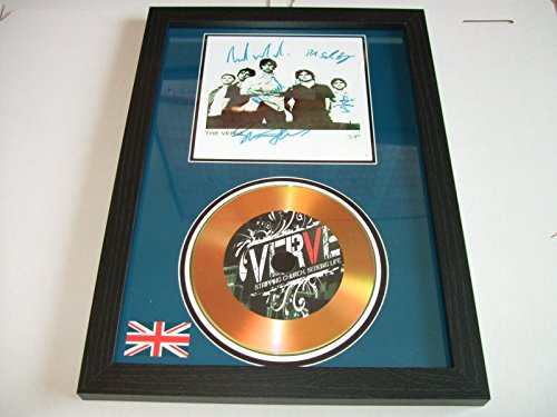 gold disc frames The Verve Signed Disque d'or