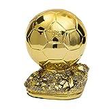 baa Golden Ballon Football Trofy Campeón Trophy Golden Ball Fútbol Trofeo Mejores Premios Jugadores (Size : 16cm/6.3')