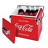 Koolatron Ice Chest with Bottle Opener - 18 Can Capacity, (14 Quarts/13 Liters) (Coca Cola)