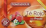 Pompadour T Rojo con Fresas - 20 Bolsitas