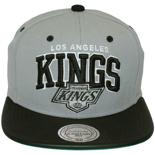 Mitchell & Ness - Casquette Snapback Homme Los Angeles Kings Leather Team Arch