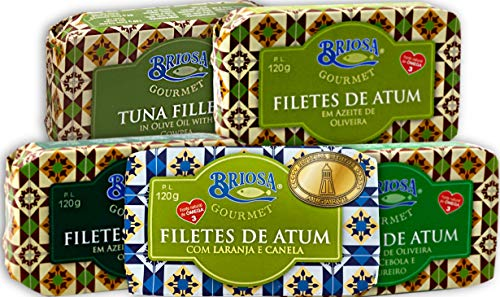 Briosa Gourmet TUNA Fillet Variation 5x120 g | Preserved and packaged by Hand | Rich in Omega-3 | Portugal
