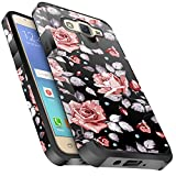 Galaxy Core Prime Case, Miss Arts Slim Anti-Scratch Kit with [Drop Protection] Heavy Duty Dual Layer Hybrid Sturdy Armor Protective Cover Case for Samsung Galaxy Grand Prime G360 -Rose Gold Flower