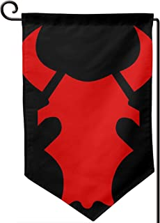 not |Double Sided| Premium Garden Flag, Minnesota National Guard Red Bull Welcome Decorative Garden Flags - Weather Resistant & Double Stitched - 18 X 12.5 Inch