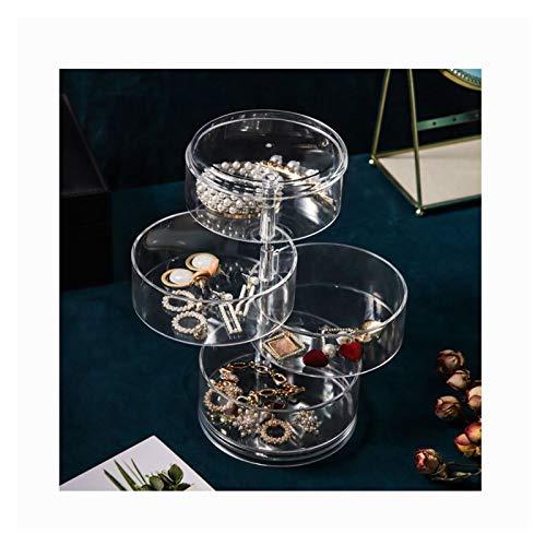 SIJI Soporte De Exhibición De Joyas Soporte De Rotación De Joyería De Rotación CajaTransparente Pendientes Pantalla (Color : 4 grids)