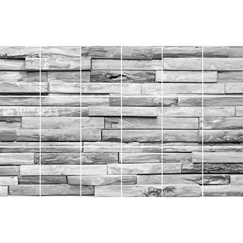 FoLIESEN - Fliesen-Folie Bad - Klebefolie Küche - 18 Fliesenaufkleber 20x25 cm - Fliesenbild, Woody Plank