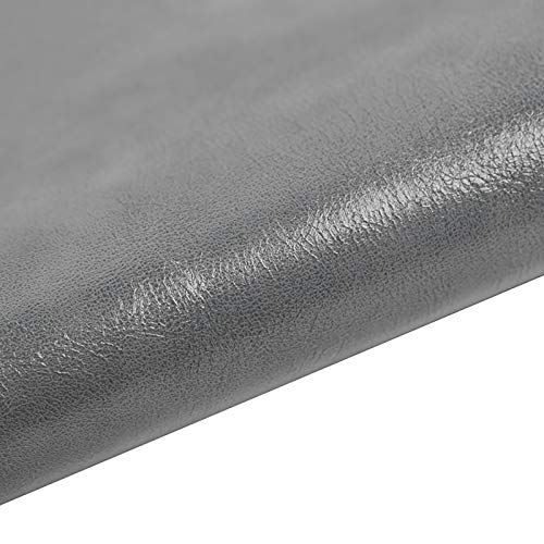 MUYUNXI Polipiel Cuero Artificial De Cuero para Tapizar Sofá Polipiel Silla Manualidades Cojines 138 Cm De Ancho Vendido por Metro(Color:Gris Claro)