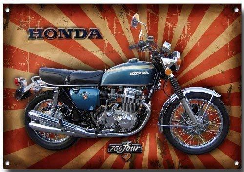 285mm x 410mm x 1mm Triumph Bonneville T120 Moto signe m/étal avec enamelled finition