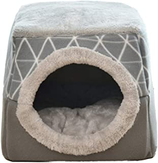 ChuangRong Cueva de Gato Cachorro Plegable Cama para Mascota