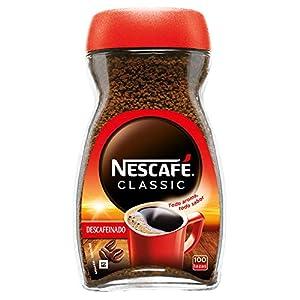 NESCAFÉ CLASSIC DESCAFEINADO todo aroma y sabor, café soluble descafeinado, frasco de vidrio, 200 g