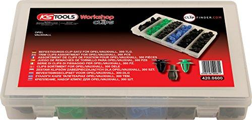 test KS Tools 420.0600 Clip-Set für Opel, 300 Stück Deutschland