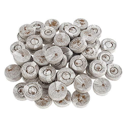 harupink 50 Pezzi Pellet di Torba, Torba in Dischetti per la Coltivazione di Piante da Giardinaggio, Avviamento di Propagazione e Germinazione per Piante in Vaso Familiari (Senza irrigatore)