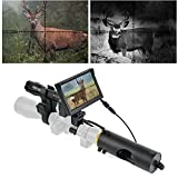BESTSIGHT Night Vision Scope for riflescopes with Night Scope Hunting Camera and 5' Screen,Without Rifle Optic