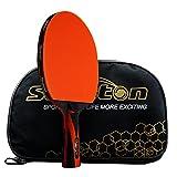 Senston ITTF Approuvé Raquette de Tennis de Table, Professionnel Raquette de Pingpong Paddle avec étui