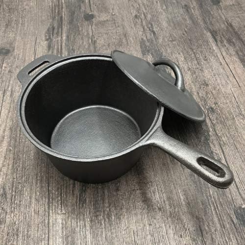 Drdcsad Bac à Lait Antiadhésif Pot Mini Soupe Casserole Pot à Soupe de Pot de Lait épaissi (Color : Black) Black