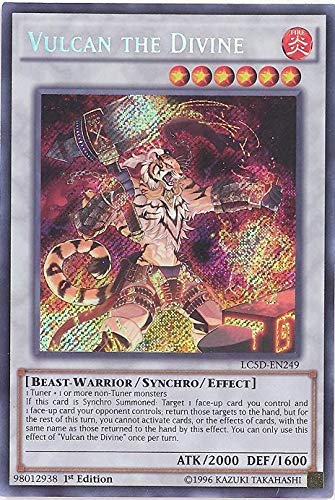 YU-GI-OH! - Vulcan The Divine (LC5D-EN249) - Legendary Collection 5D's Mega Pack - 1st Edition - Secret Rare by