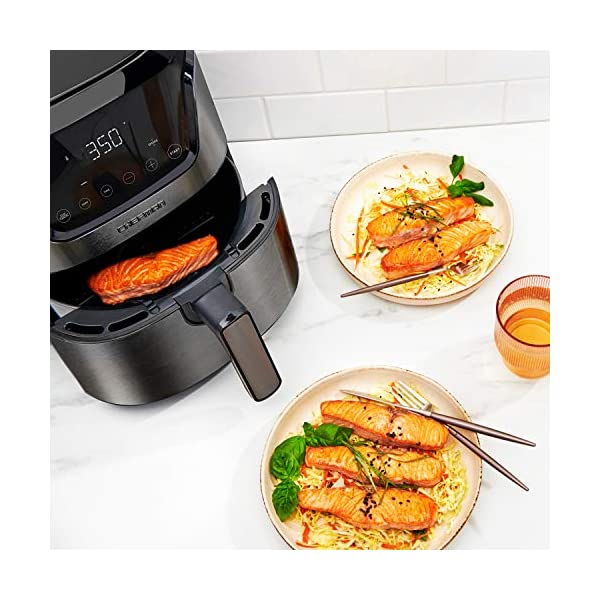 CHEFMAN Compact Air Fryer 4.6 Qt, Healthy Cooking, User Friendly, Nonstick Stainless Steel, Digital Touch Screen with 4…