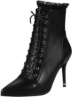 Melady Women Elegant Booties Stiletto Heels Zipper