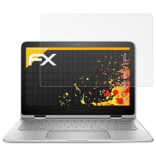 atFolix Panzerfolie kompatibel mit HP Spectre x360 13-4102ng Schutzfolie, entspiegelnde & stoßdämpfende FX Folie (2X)