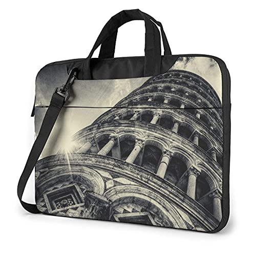 Hokdny laptoptasche Laptop Bag Pisa Tower Architektur Notebook Bag High Quality Laptop Bag Dirt Water Resistant Laptop Bag with Accessory Compartment 13/14/15.6 in