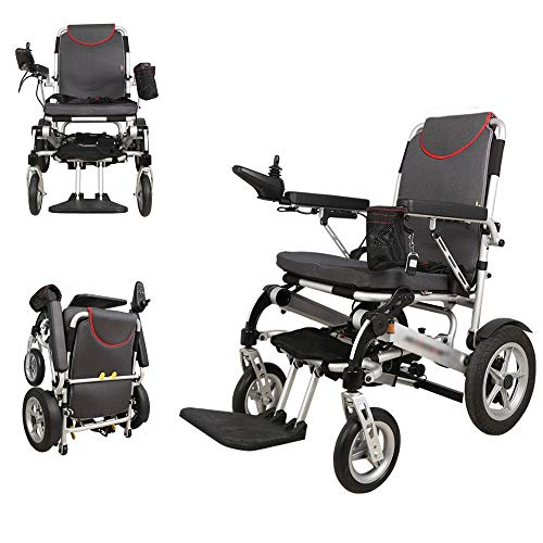 GOFUS Automatic Remote Folding Chair Silla De Eléctrica Power Ruedas Inteligente Wheelchair Ligera De La Aleación Aluminio,conduzca con Potencia O Use como Silla De Ruedas Manual
