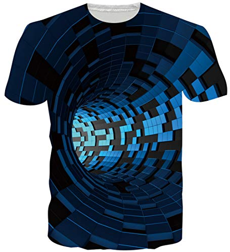 Loveternal 3D Tshirts Men Novelty Swirl Tee Shirt Casual Funny Short Sleeve Shirt for Women Men XL