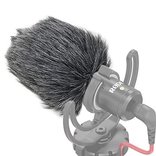 SUNMON Mikrofon-Windschutz für tote Katze, Windschutz aus Schaumstoff, kompatibel mit Rode VideoMicro