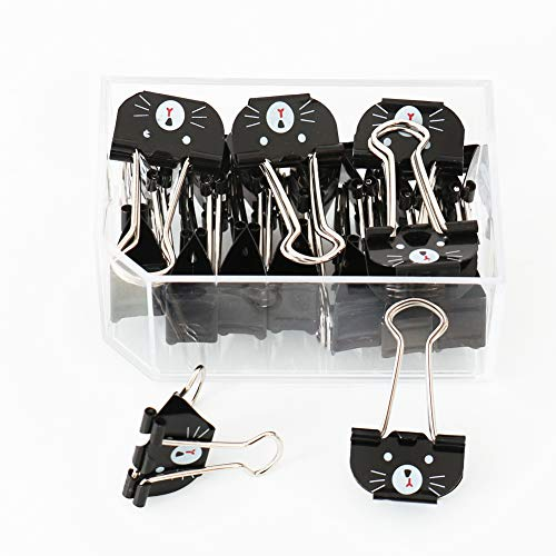 OUTU 20 pcslot 1 inch25mm Size Cat Metal Binder Clips Notes Letter Paper Clip Office Supplies P0107