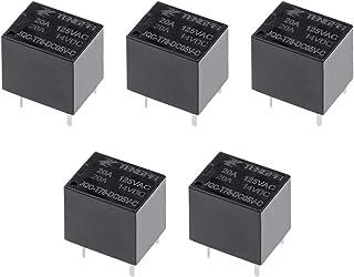 uxcell PCB電磁パワーリレー 汎用リレー 5V SPDT 5ピン JQC-T78-DC05V-C 5枚入り
